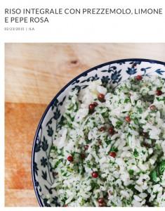 BLOG Riso integrale con prezzemolo, limone e pepe rosa | ilariavafuori